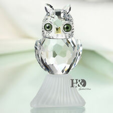 Crystal Animal Figurines Cute Owl Glass Paperweight Collectibles Xmas Decor Gift