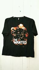 THE WANTED BAND TEE XL BLACK SHORT SLEEVE GRAPHIC