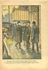 Couleur Policier Civil Paris Jacques Sadoul Communiste 1924 ILLUSTRATION