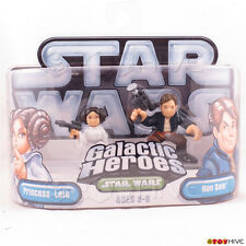 Star Wars Galactic Heroes Princess Leia and Han Solo blue silver 2 figure pack