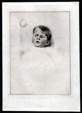 TUSHINGHAM - schönes Kinderportrait Radierung um 1920 - Original!
