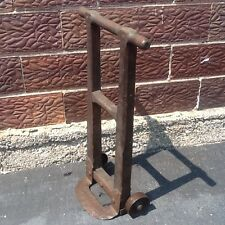 """Rare 36"""" Tall Small Antique / Vintage Wood Hand Truck Dolly -5"""" Wheels -  Nice"""