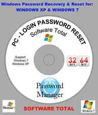 Window PC - LOGIN  Password Recovery & Reset Disk For Window XP & 7