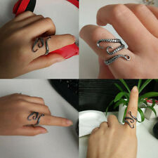 Vintage Steampunk Steel Plated Octopus Finger Open Ring Adjustable Size Jewelry
