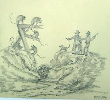 HUMOUR MAN AND MONKEY STAND OFF PENCIL H.D.B. 1828