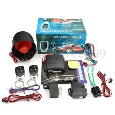 Universal Car Vehicle Burglar Alarm Protection Security System Keyless 2 Remote