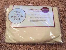 American Baby Company 100% Cotton Value Jersey Porta-Crib/mini Crib, Celery, New