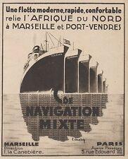 Z8456 Compagnie de Navigation Mixte - Pubblicità d'epoca - 1935 Old advertising