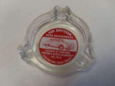 Sam Davidson Used Cars  glass ash tray  Fresno  California Vintage Car Dealer