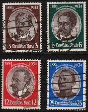 1934 Germany Lost Colonies Set Sc#432-435 Used Sound VF  11994