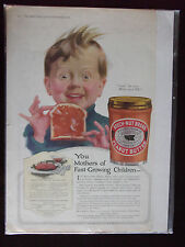 1919 Beech Nut Peanut Butter Advertisement with PB Loaf Recipe Cute Kid