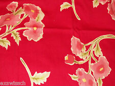 POTTERY BARN PEACHY POPPY RED/PINK/GREEN POPPIES 3PC FULL SIZE DUVET SET