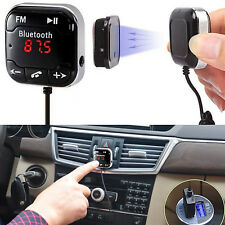 Kit Auto Wireless Bluetooth trasmettitore FM MP3 Lettore USB SD LCD A distanza