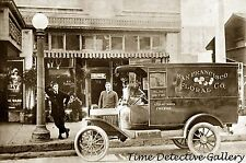 Floral Delivery Truck, Fresno, California - ca. 1920s - Historic Photo Print