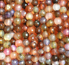 """New 8mm Faceted Dragon Veins Agate Round Gemstone Loose Beads 15 """""""