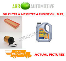 PETROL OIL AIR FILTER + LL 5W30 FOR PEUGEOT PARTNER ORIGIN 1.4 75 BHP 2008-13