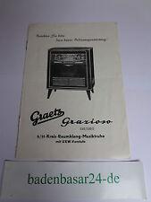 Vintage Bedienungsanleitung für Graetz Grazioso 530/530E, sehr rar!