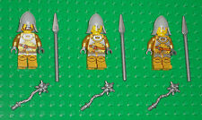 LEGO Minifigures Lot 3 Crown Gold Castle Knights Swords Lego Minifigs People