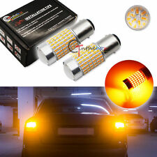 2 High Power Amber 1157 2357A 7528 2057 144-SMD LED Bulbs For Turn Signal Lights