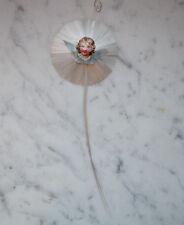 Stern aus Glasseide / Glasfaser und Engel Oblaten (# 6925)