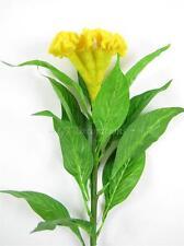 2x Artificial Flowers Celosia Cockscomb Flower Stems for Floral Arrangements