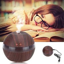 Air Aroma Essential Oil Diffuser LED Ultrasonic Aromatherapy Humidifier Black AB