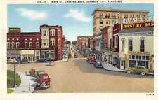Johnson City Tennessee Main Street  Looking East Antique Postcard J53023