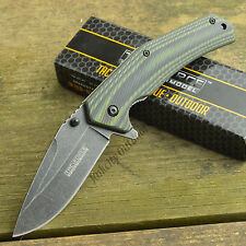 Tac-Force Assisted Opening Blackwash 440 Stainless Linerlock Folding Knife