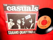 THE CASUALS Siamo quattro 45rpm 7' + PS 1967 ITALY BEAT MINT Gino Paoli