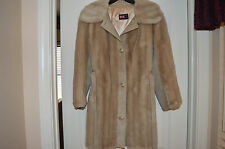 Women's Short Coat With REAL Leather and Faux Fur. GREAT CONDITION!