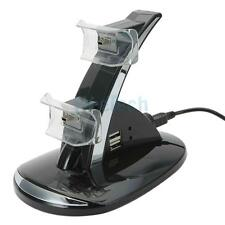 LED Dual Controller Charger Dock Station Stand Charging for Playstation PS3 New