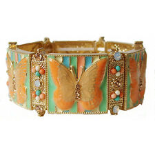 Butterfly Mosaic Stretch Bracelet Peach & Pastels *Beautiful*
