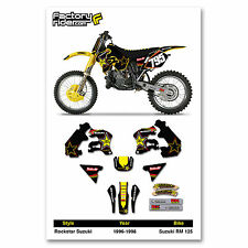 Team Rockstar Suzuki Motocross Graphics RM 125 1996-1998 Dirt bike Graphics kit