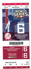 2009 NEW YORK YANKEES VS PHILLIES WORLD SERIES GAME #6 TICKET STUB 27TH WS WIN