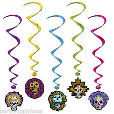 Halloween DIA DE LOS MUERTOS Day of the Dead HANGING WHIRLS Party Decorations