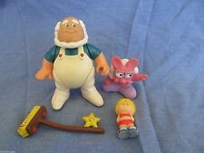 Vinatge Care Bears 1984 Cloudkeeper figure and broom with other PVC