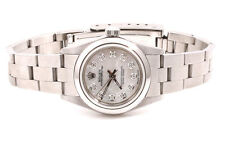 Rolex Ladies Stainless Steel Oyster Perpetual - MOP Diamond Dial - Oyster Band