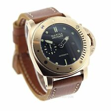 Parnis Marina Militare 47 Submarine Automatic Watch Rose Gold PVD Black Last 1 !