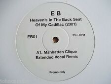 "ERROL BROWN - HEAVEN'S IN THE BACK SEAT OF MY CADILLAC 12"" RECORD/VINYL - EB01"