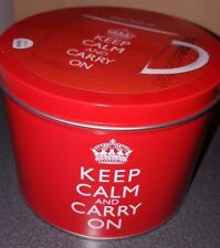 Keep Calm And Carry On Mug Coffee Cup In Tin By Home Essentials New