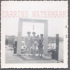 Vintage Snapshot Photo Pretty Women & Cute Girls in Harwich Massachusetts 696404