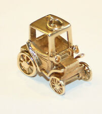 Splendid Vintage Large 9ct Gold Old Fashioned Motor Car Charm 8.6 grams