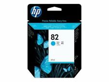GENUINE HP HEWLETT PACKARD HP 82 CYAN INK CARTRIDGE C4911A 69ML 2016 DATE