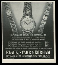 1952 Jaeger-LeCoultre Futurematic watch photo Black Starr & Gorham print ad