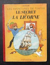 Hergé. Tintin. LE SECRET DE LA LICORNE. Casterman 1943, A20, dos rouge. EO