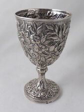 Coin Silver Repousse Goblet by Samuel Kirk