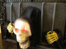 ANIMATED ATTACKING SKELETON from PRISON WINDOW HALLOWEEN PROP - SKULL SCENE