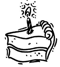 Unmounted Rubber Stamps, Birthday, Happy Birthday Cards, Birthday Cake w/ Candle