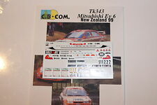 DECALS 1/43 MITSUBISHI LANCER MAKINEN RALLYE N ZELANDE 1999 NEW ZEALAND RALLY