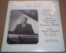 Egon Petri Recital BEETHOVEN/BUSONI/LISZT - Recital Records RR-430 SEALED
